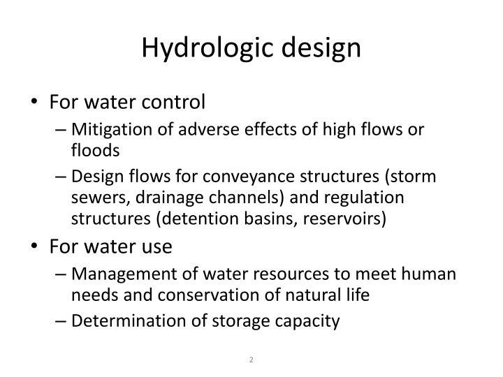 Hydrologic design
