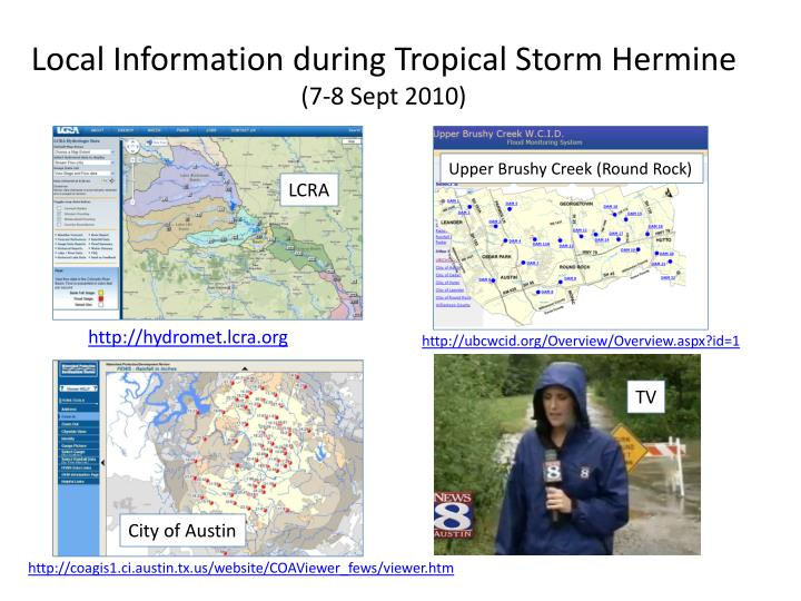 Local Information during Tropical Storm