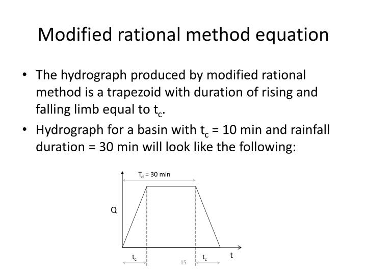 Modified rational method equation