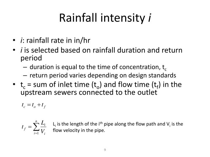 Rainfall intensity