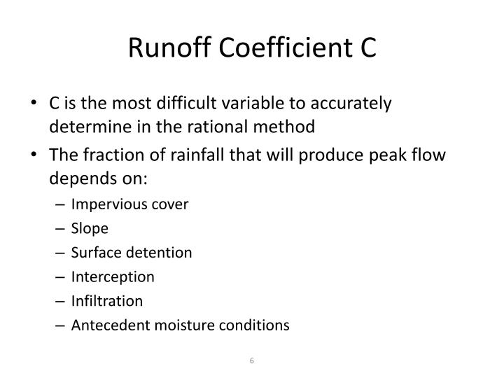 Runoff Coefficient C