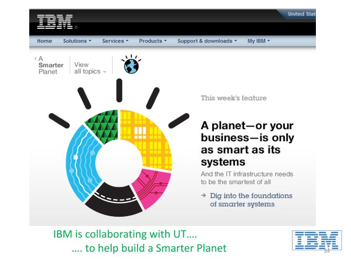 IBM is collaborating with UT….