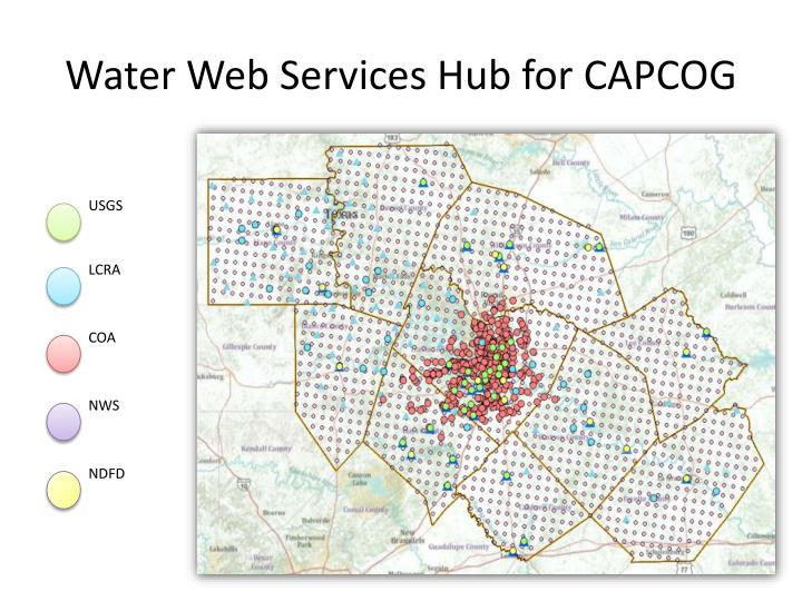 Water Web Services Hub for CAPCOG