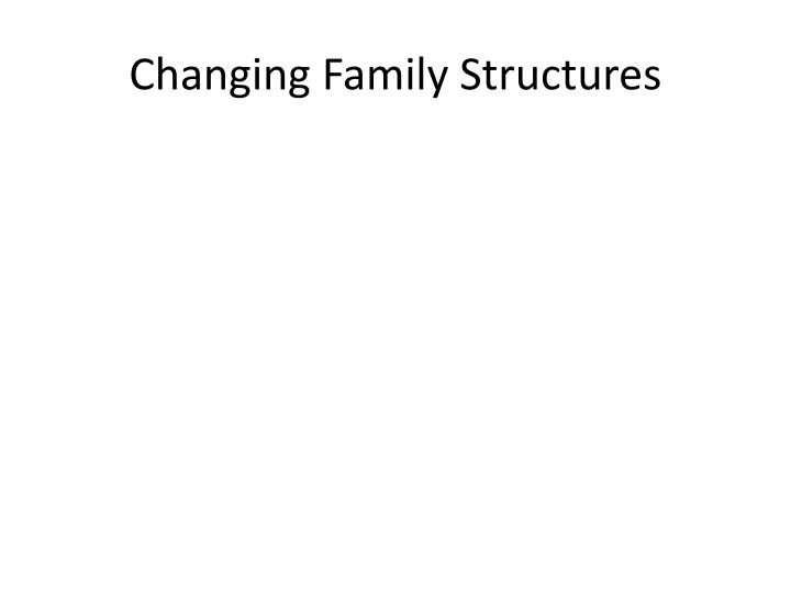 Changing Family Structures
