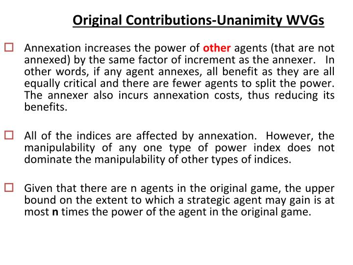 Original Contributions-Unanimity WVGs