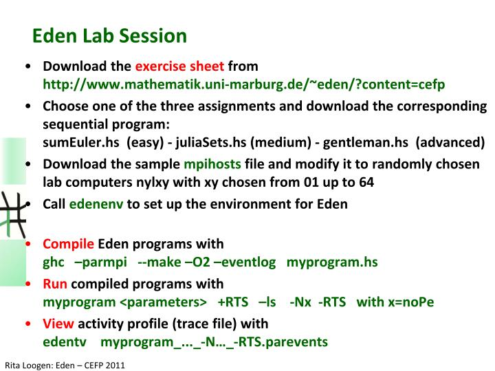 Eden Lab Session