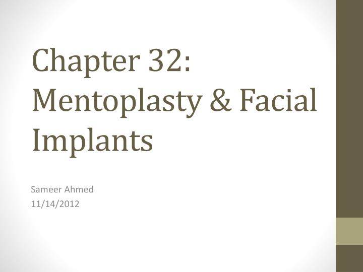 Chapter 32 mentoplasty facial implants
