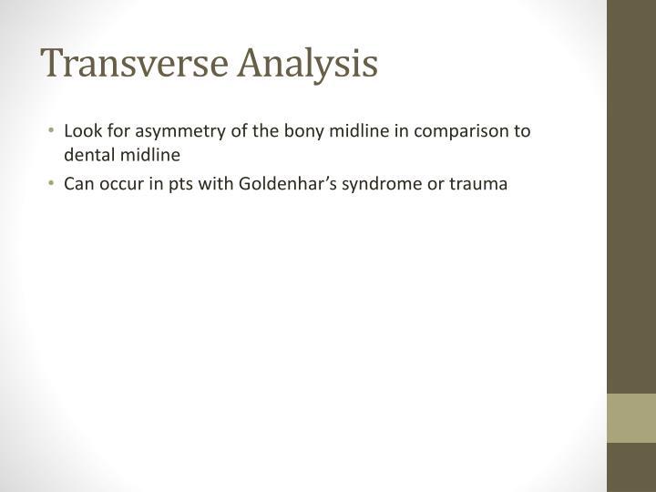 Transverse Analysis