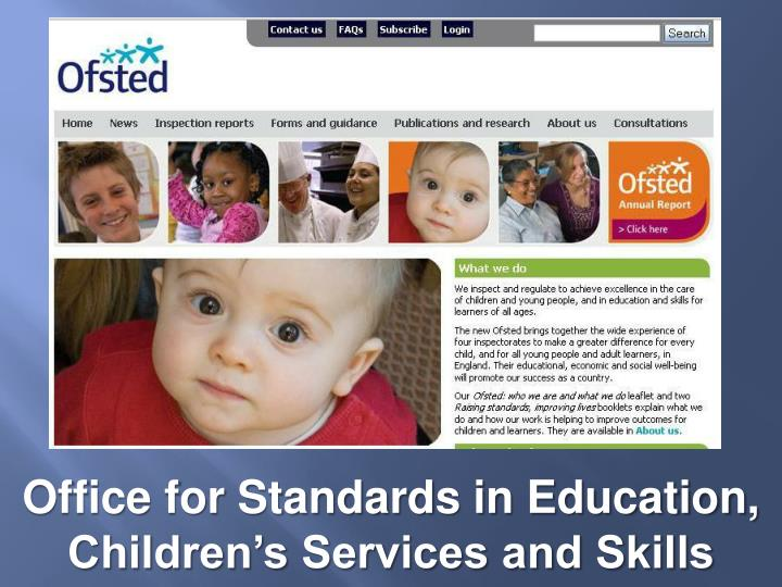 Office for Standards in Education, Children's Services and Skills