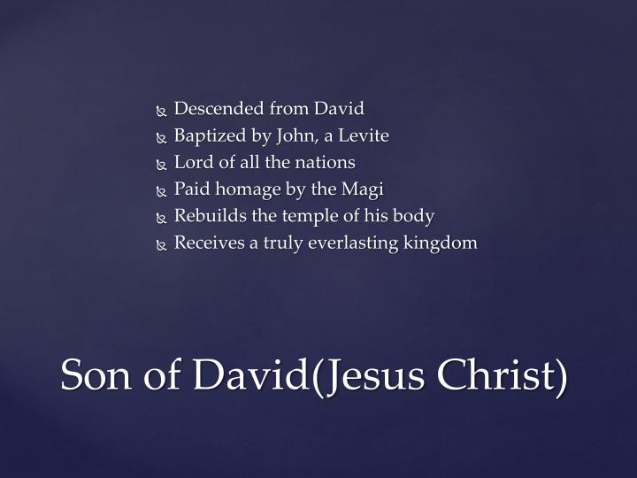 Descended from David