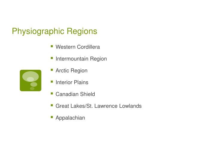 Physiographic regions