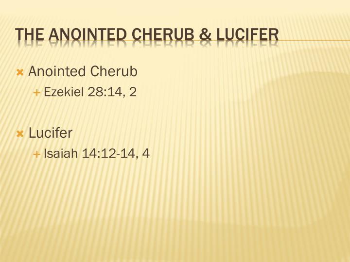 Anointed Cherub