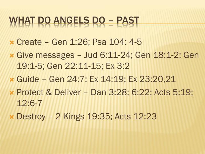 Create – Gen 1:26;