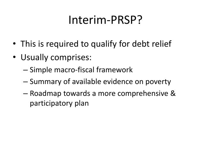 Interim-PRSP?