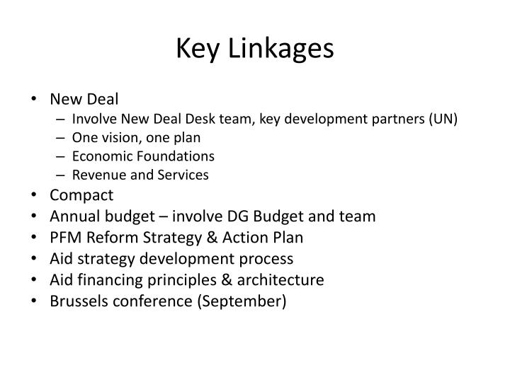 Key Linkages