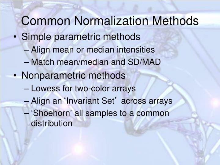 Common Normalization Methods