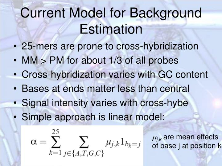 Current Model for Background Estimation