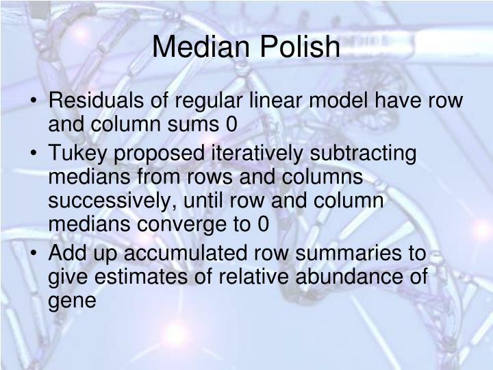 Median Polish
