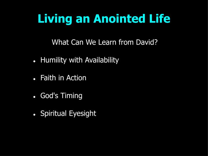 Living an Anointed Life