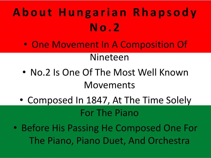 About Hungarian Rhapsody No.2