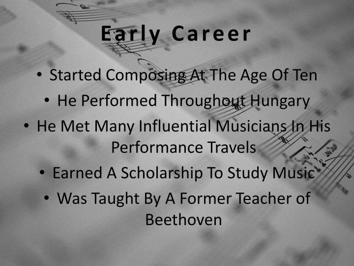 Early Career