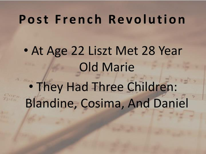Post French Revolution