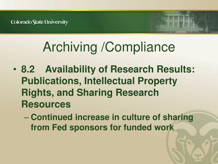 Archiving /Compliance