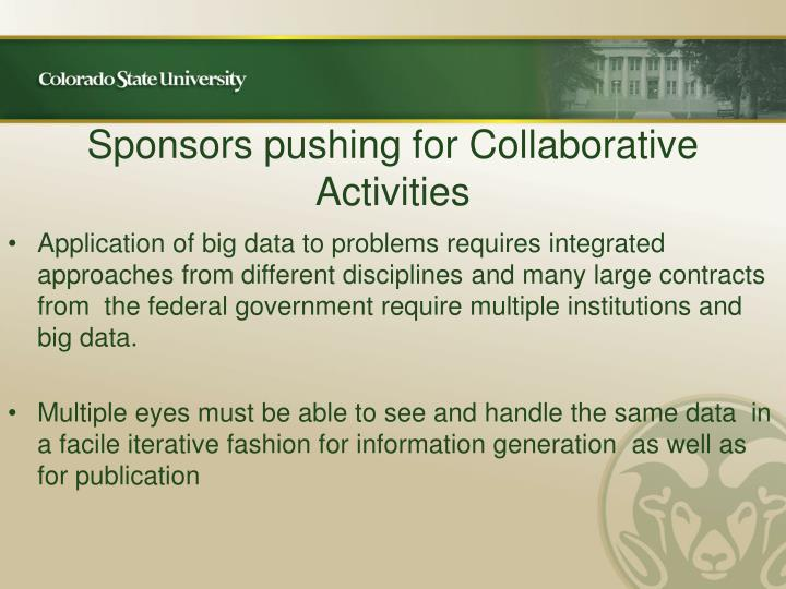 Sponsors pushing for Collaborative