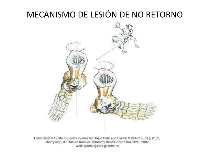 MECANISMO DE LESIÓN DE NO RETORNO