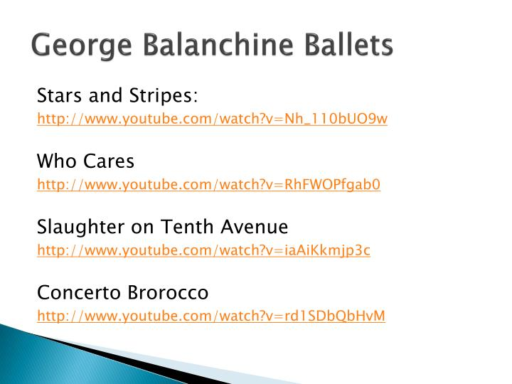 George Balanchine Ballets