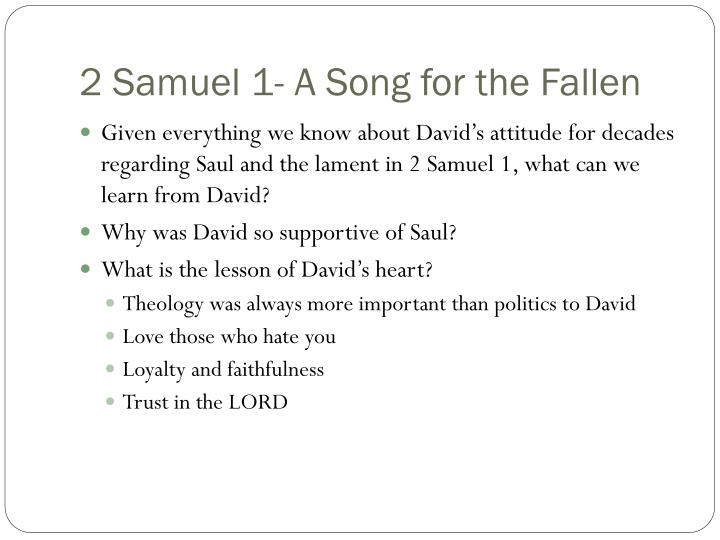 2 Samuel 1- A Song for the Fallen