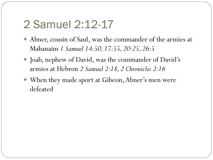 2 Samuel 2:12-17