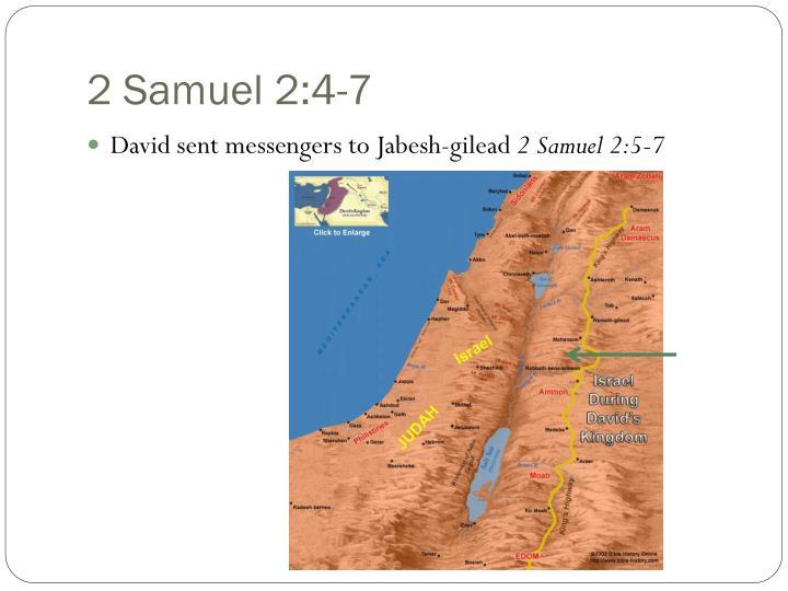 2 Samuel 2:4-7
