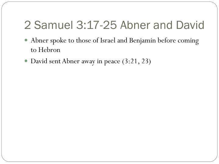 2 Samuel 3:17-25