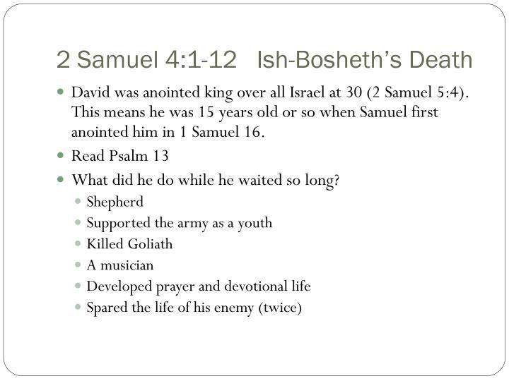 2 Samuel 4:1-12