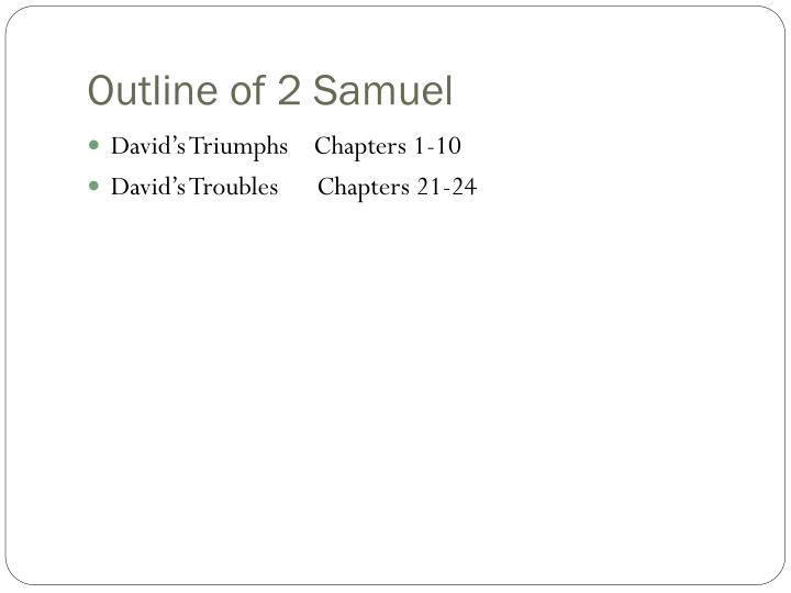 Outline of 2 Samuel
