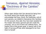 irenaeus against heresies doctrines of the cainites