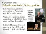 september 2011 palestinians seek un recognition