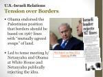 u s israeli relations tension over borders