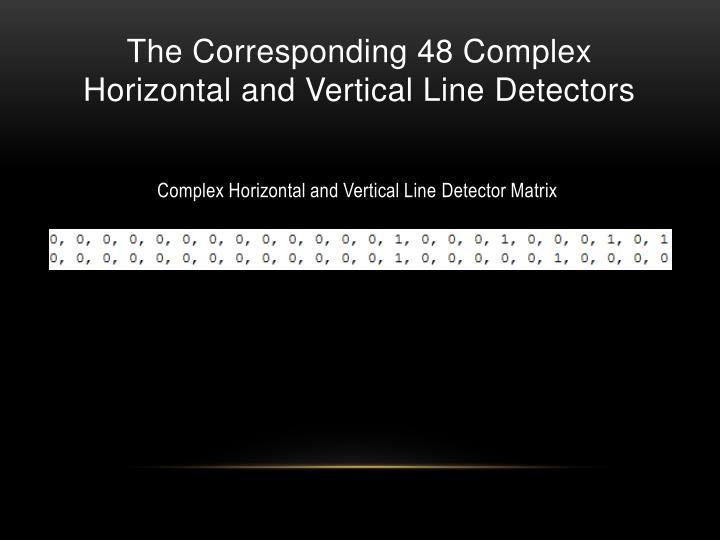 The Corresponding 48 Complex
