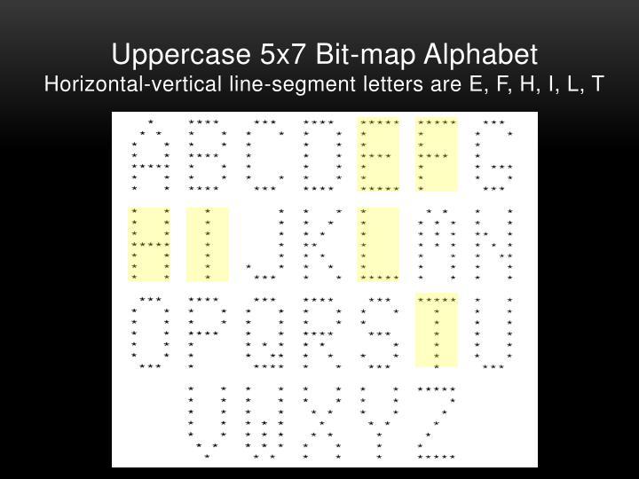 Uppercase 5x7 Bit-map Alphabet