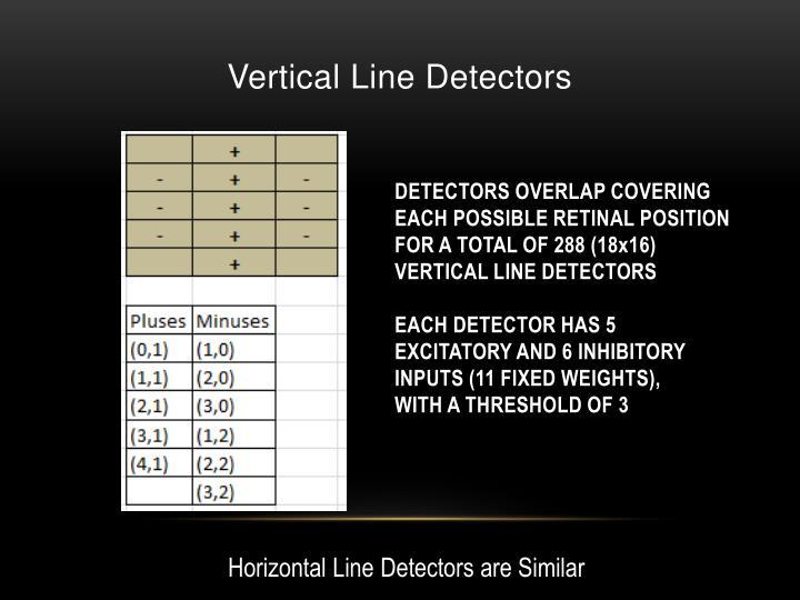 Vertical Line Detectors
