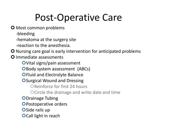 Post-Operative Care
