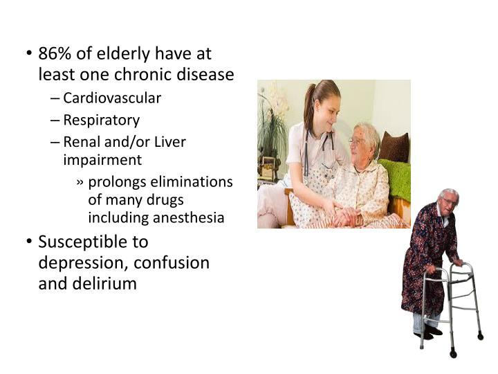 86% of elderly have at least one chronic disease
