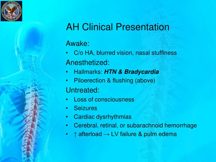 AH Clinical Presentation