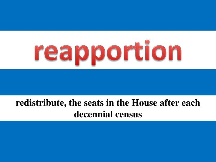 reapportion
