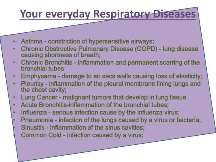 Your everyday Respiratory Diseases