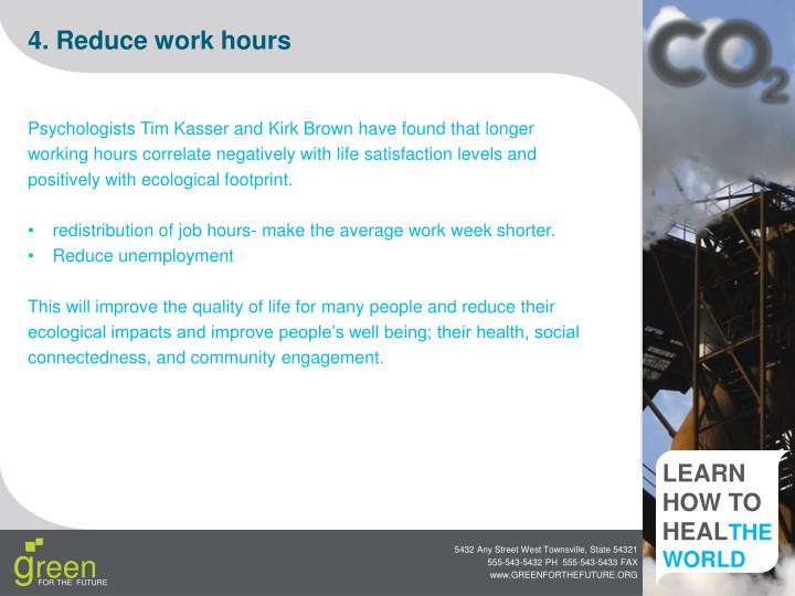 4. Reduce work hours