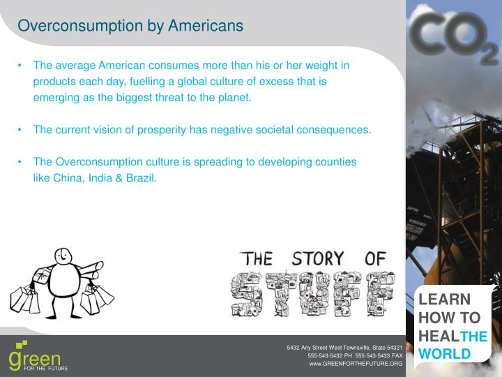 Overconsumption by Americans