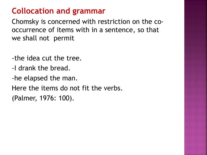 Collocation and grammar